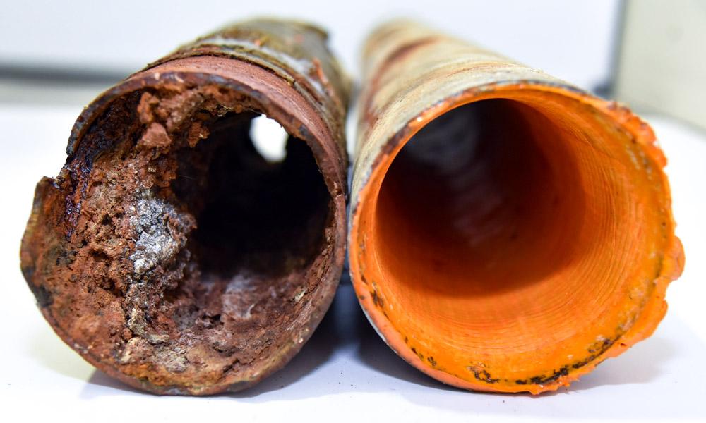 ivanoe assainissement chemisage de canalisation avant-après